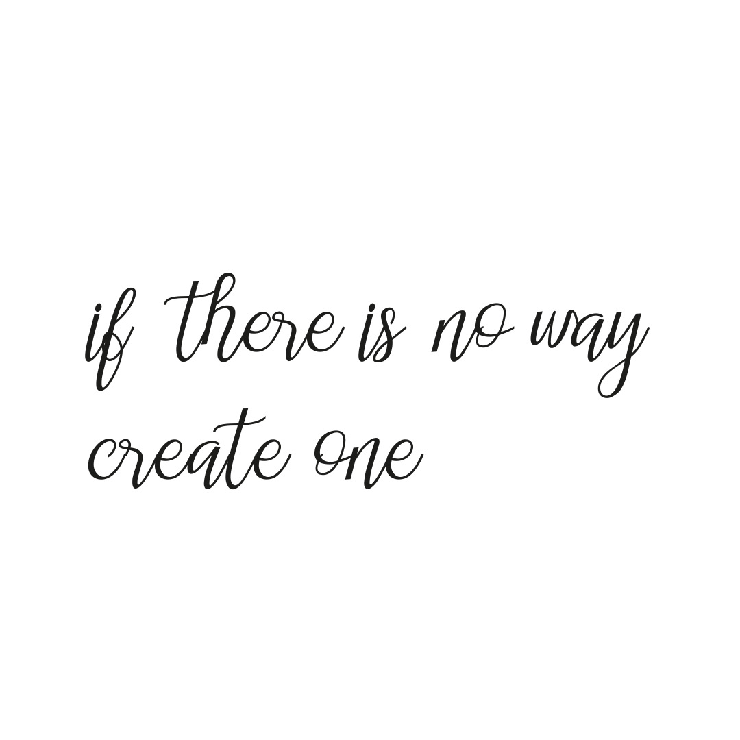 quote if there is no way create one