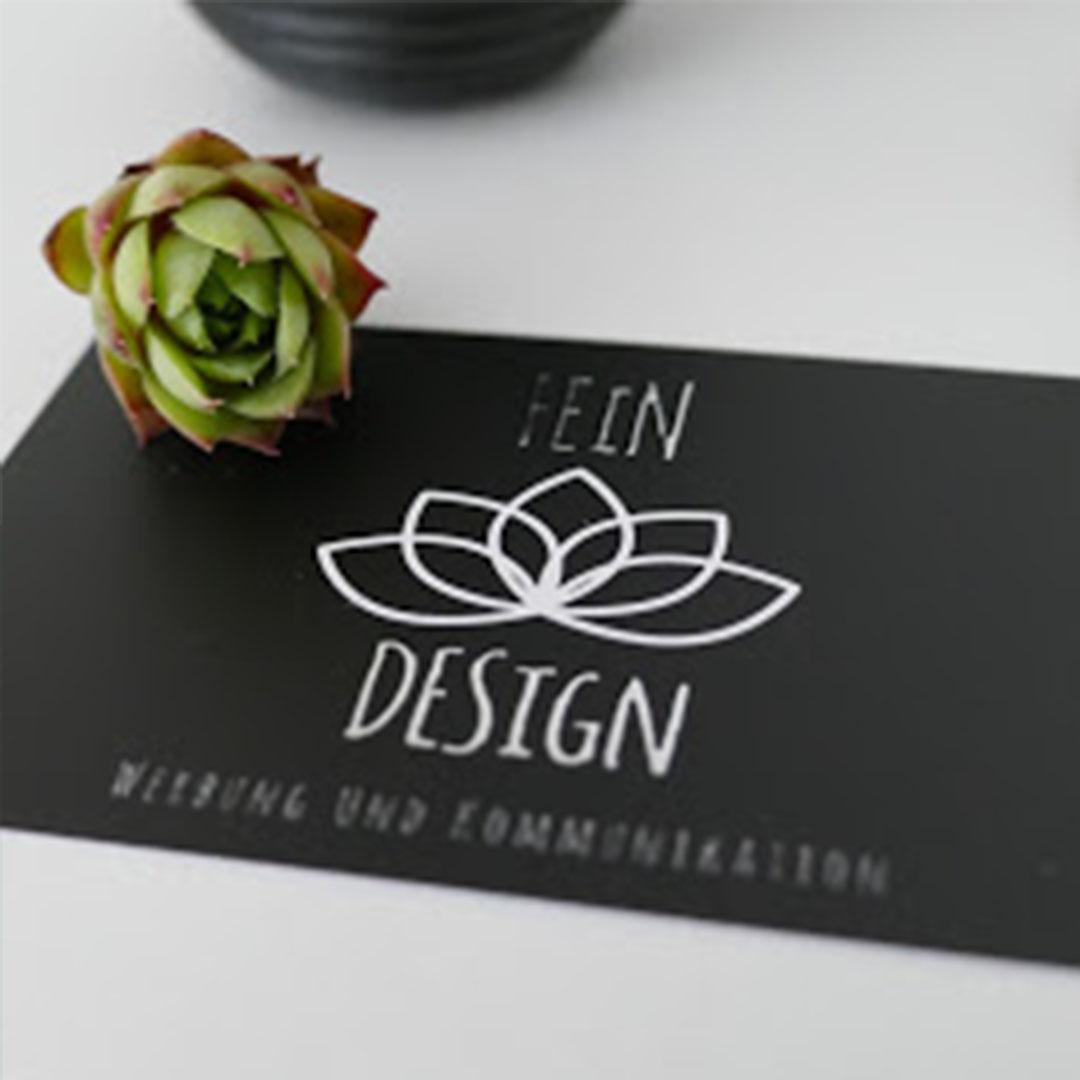 Visitenkarte fein-design Tulln Grafik und Webdesign für Selbstständige, Gründer und Freiberufler