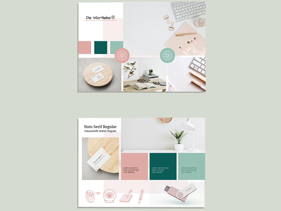 Abbildung eines Brand Style Guides